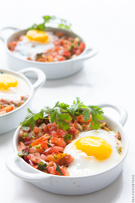 Shredded Chicken and Baked Eggs _ Real Food by Dad