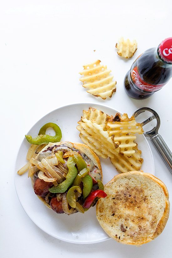Sausage and Peppers Burger   Real Food by Dad