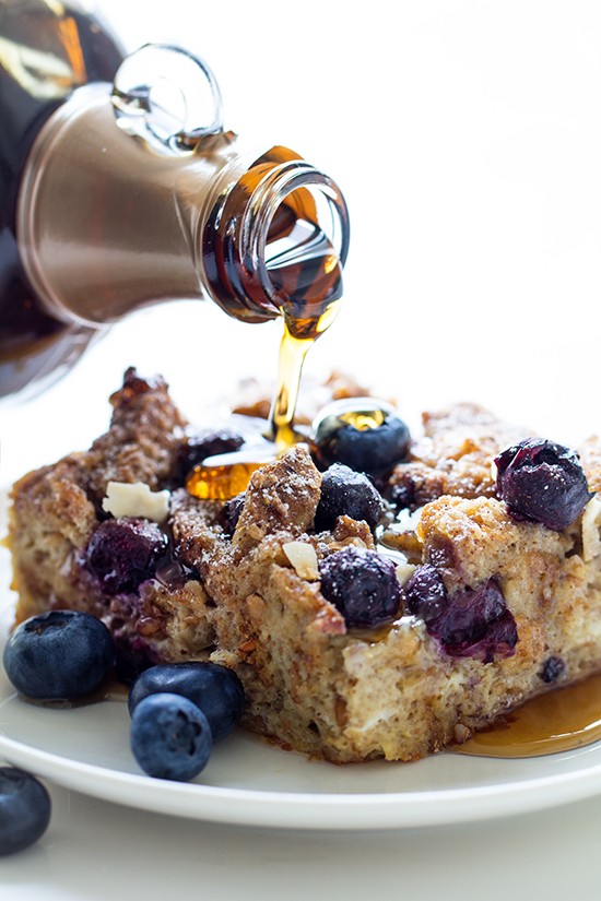 Blueberry Lemon French Toast Casserole | Real Food by Dad