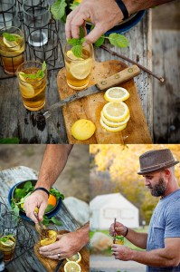 Cocktail Making Collage