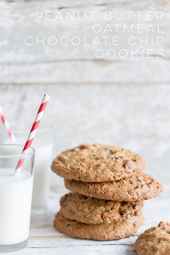 Peanut Butter Oatmeal Chocolate Chip Cookies | Real Food by Dad