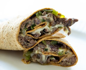 Philly Cheesesteak Wrap Real Food by Dad