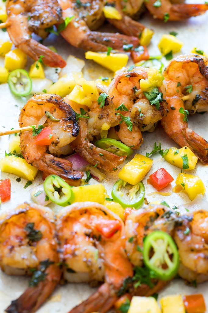 Pan Seared Shrimp with Tropical Salsa via Real Food by Dad