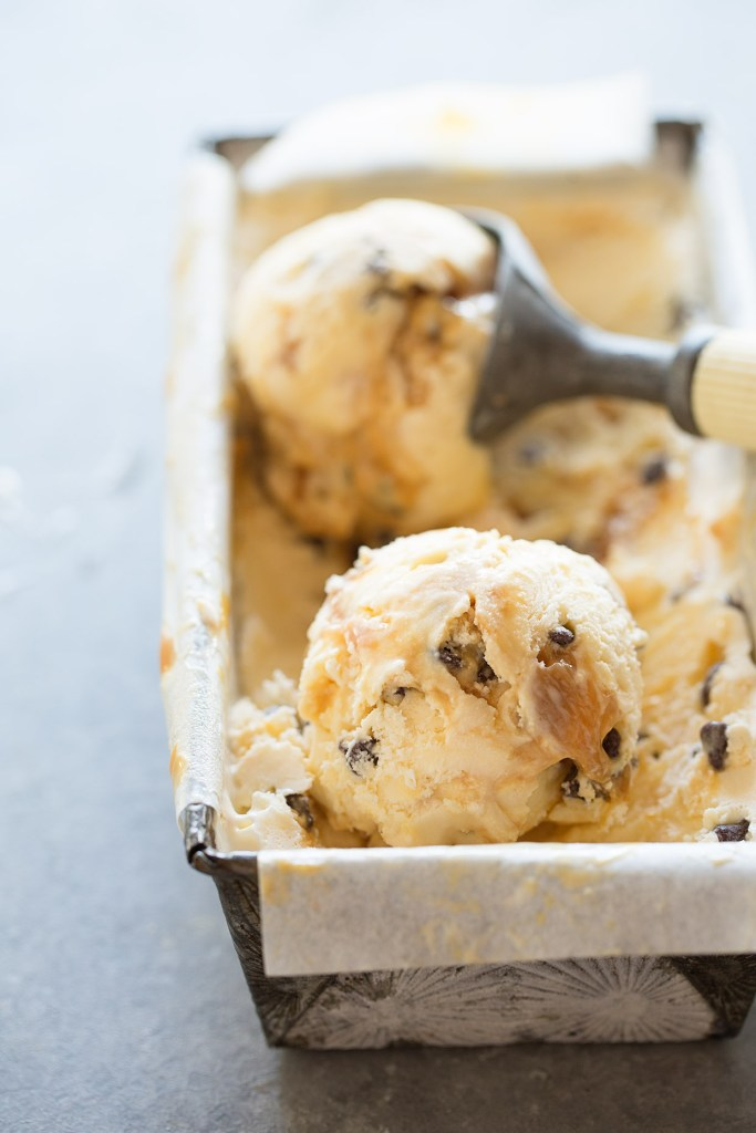 Banana Caramel Ice Cream with Chocolate Chips Real Food by Dad