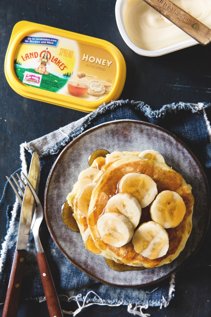 Banana Honey Pancakes via Real Food by Dad