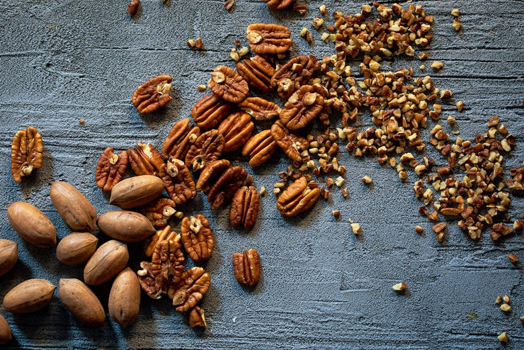 Pecans Whole to Pieces Progression Real Food by Dad