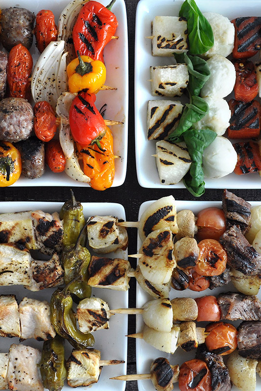 15 Best Vegetables for Grilling l grilled vegetable skewer kabobs