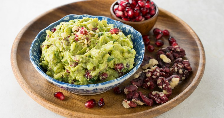 Pomegranate and Walnut Guacamole
