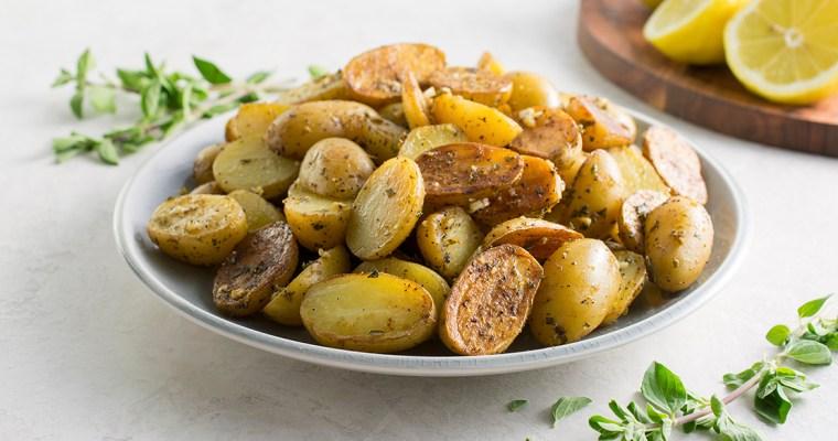 Greek Baby Potatoes with Lemon