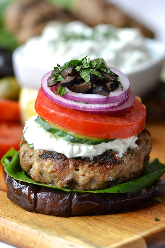 The Best of Whole30 Recipe Roundup l greek lamb burgers