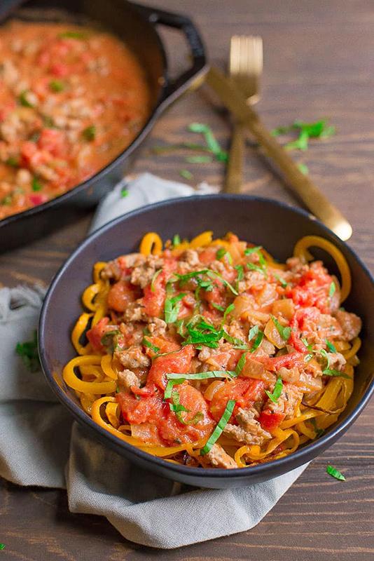 The Best of Whole30 Recipe Roundup l butternut squash noodles