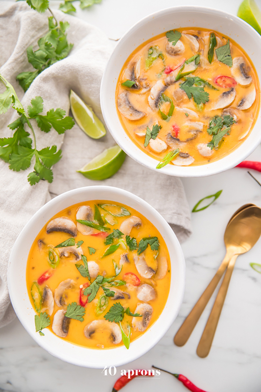 The Best of Whole30 Recipe Roundup l tom kha soup