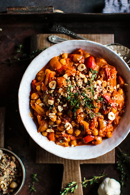 25 delicious ways to celebrate National Pepper Month l roast pepper and chickpea stew