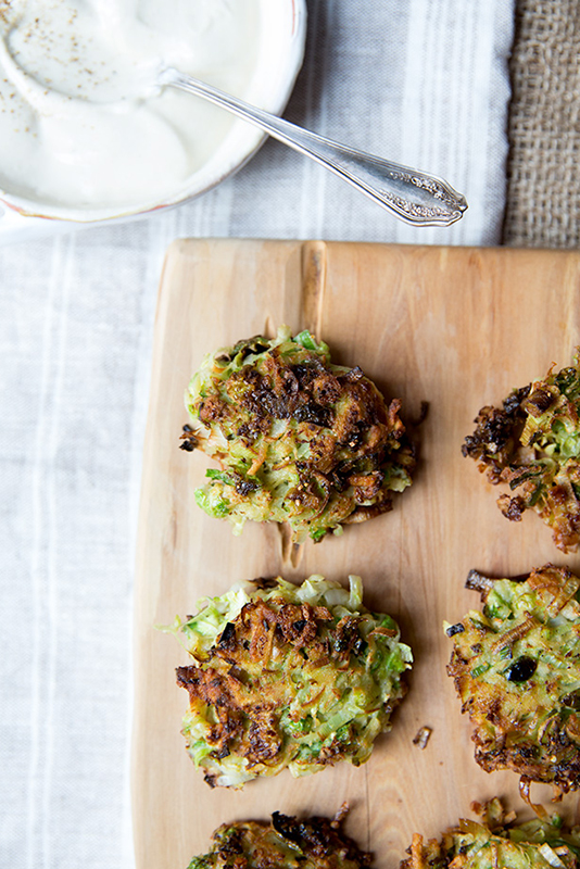 Healthy Thanksgiving Sides Recipe Roundup l brussels sprouts latkes