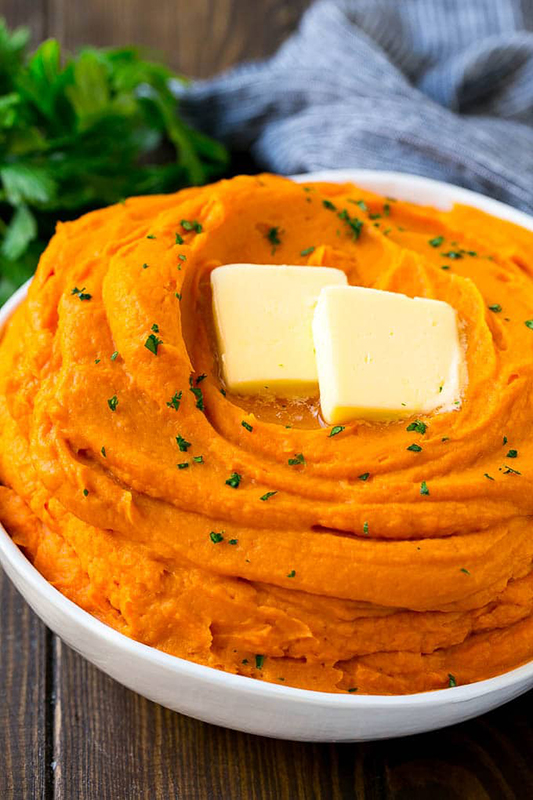 Healthy Thanksgiving Sides Recipe Roundup l mashed sweet potatoes