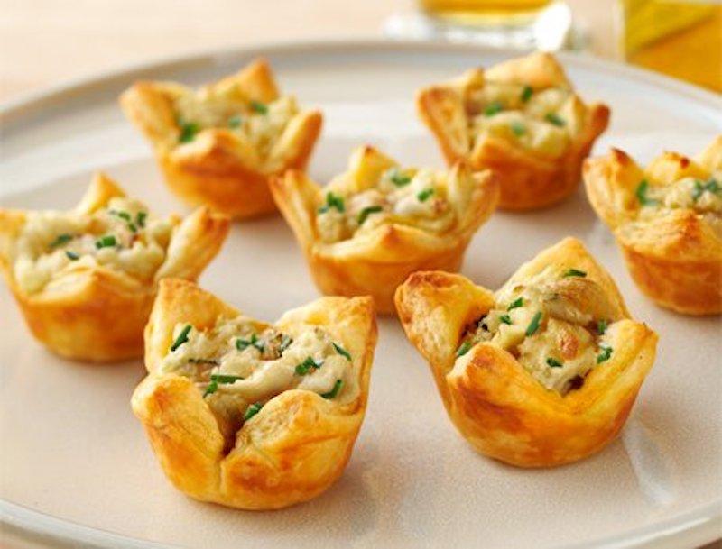 tartlet, potato recipe, onion recipe