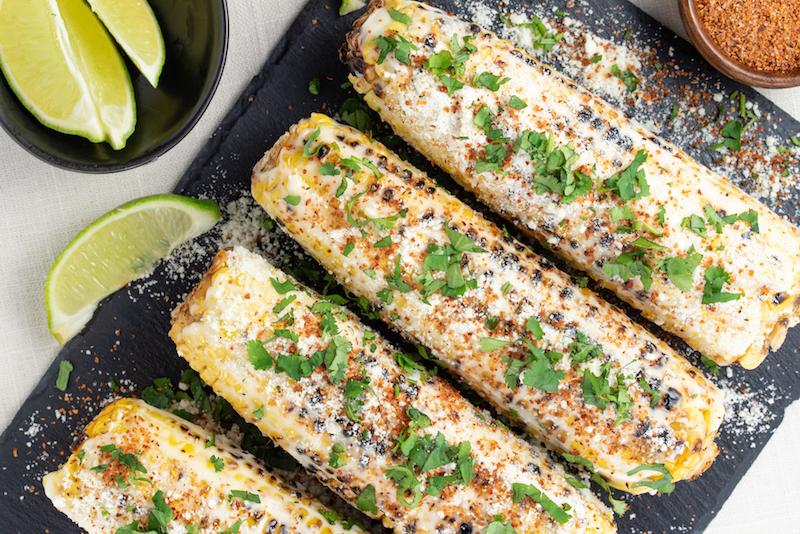 organic corn recipes, corn on the cob, cinco de mayo recipes