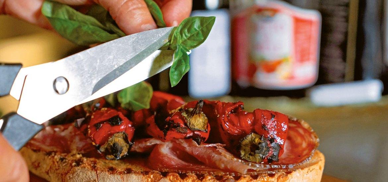 Finocchiona and Roasted Pepper Panino