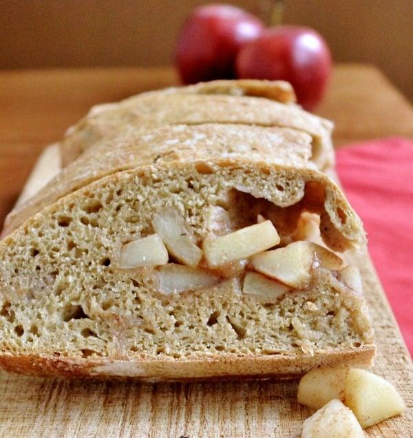 Apple pie bread sliced