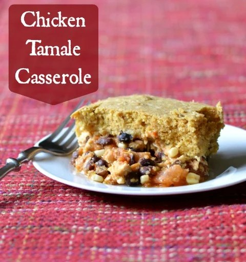 This chicken tamale casserole is hearty comfort food at its best. I love the combination of cornbread and Mexican flavors in this recipe.