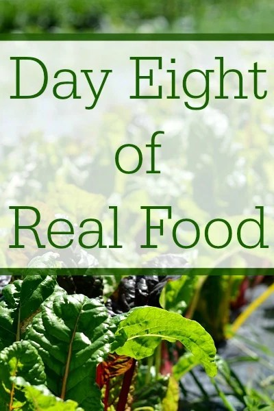 Day Eight of Real Food
