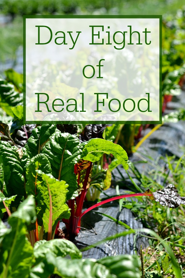 Day Eight of Real Food includes healthy recipes without processed food. It's such a treat to be able to eat a clean, whole food diet.