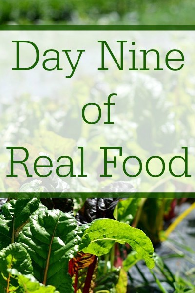 Day Nine of Real Food