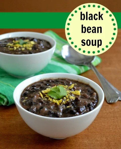This black bean soup is so simple to make and SO delicious! Vegetarian recipe from Real Food Real Deals.