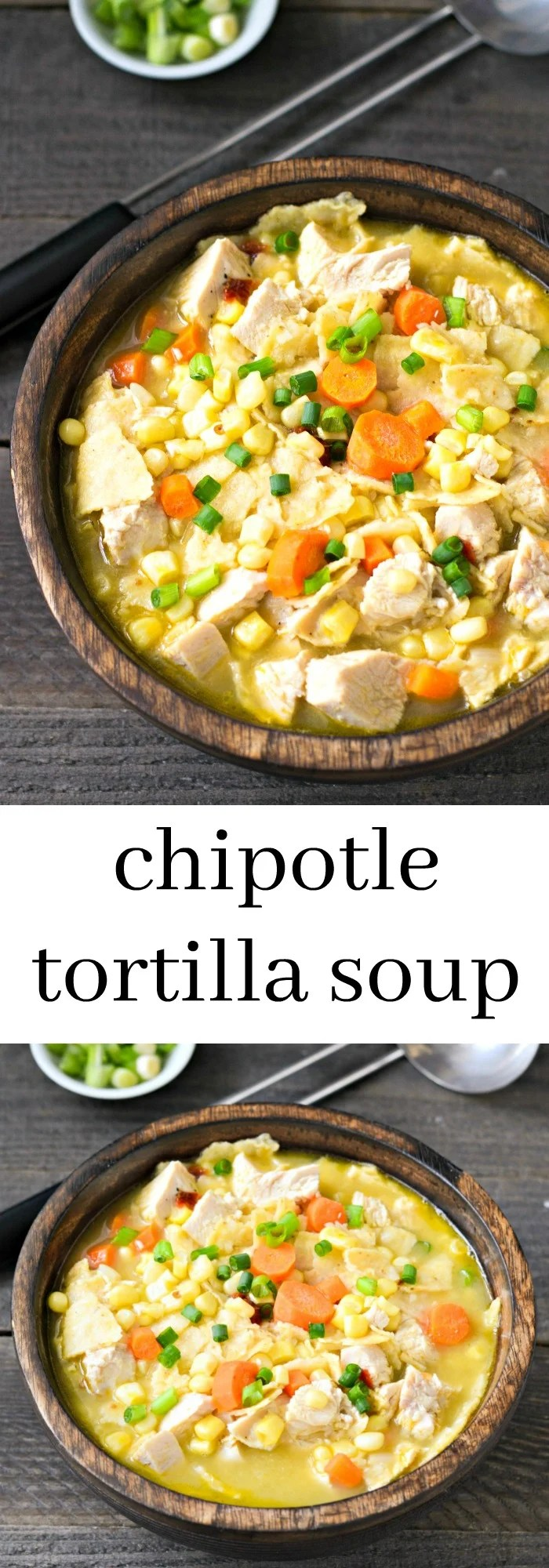 This chipotle tortilla soup is a flavorful recipe that works well with leftover chicken. Bring this healthy soup to work for an easy on-the-go lunch.
