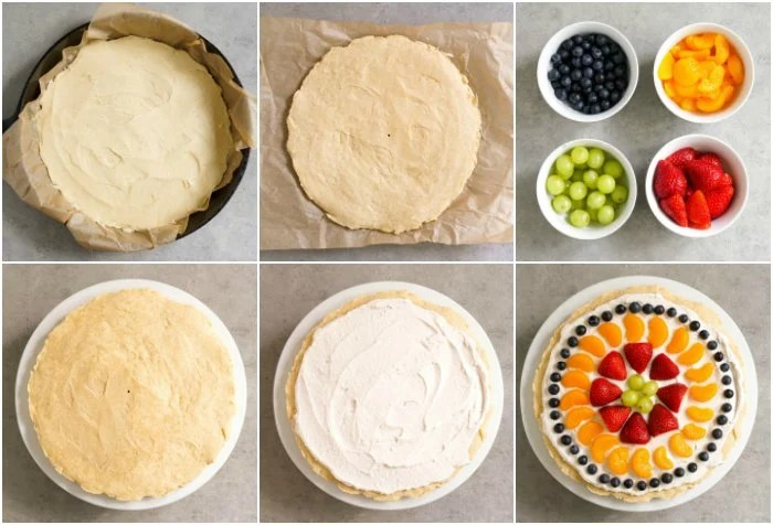 This fruit pizza is so easy to make.