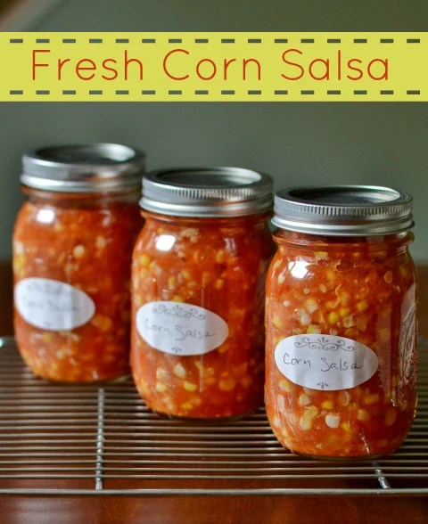 This fresh corn salsa is a delicious, healthy appetizer that will remind you of CSA produce all year long. Such a healthy recipe for canning!