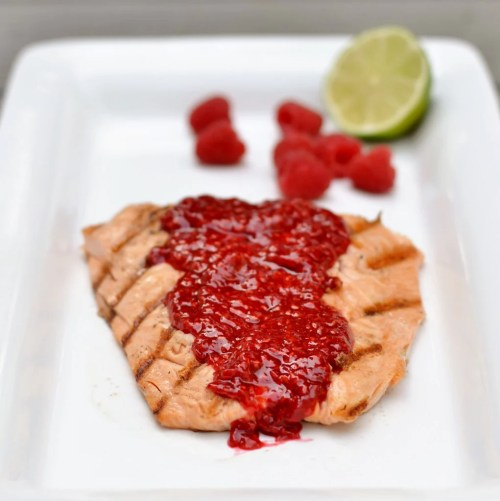 This salmon with raspberry lime sauce is a healthy, delicious recipe that may convert a picky eater into a salmon fan.