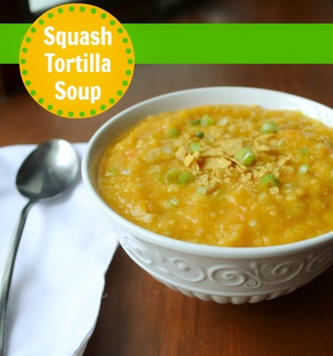 This squash tortilla soup is a delicious, healthy recipe for a chilly night's dinner. It's full of flavor and lots of vegetables.