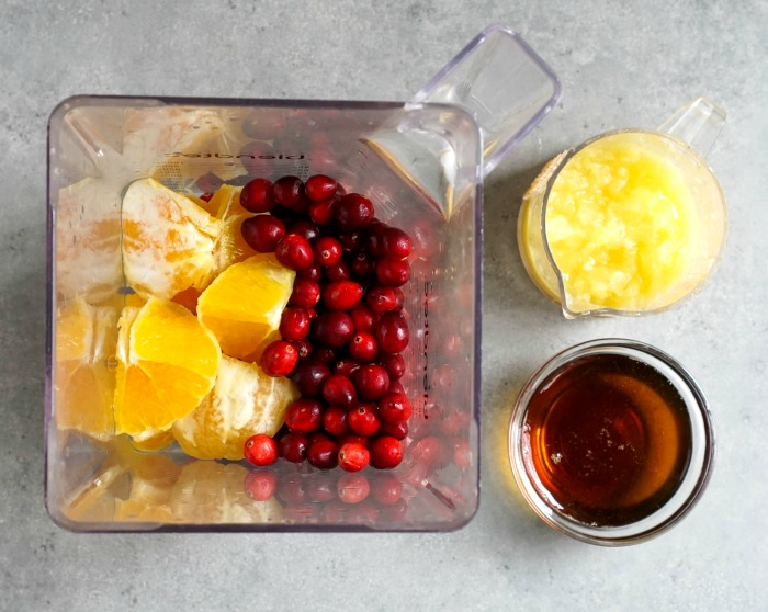 This healthy cranberry relish has just 4 ingredients. So easy!