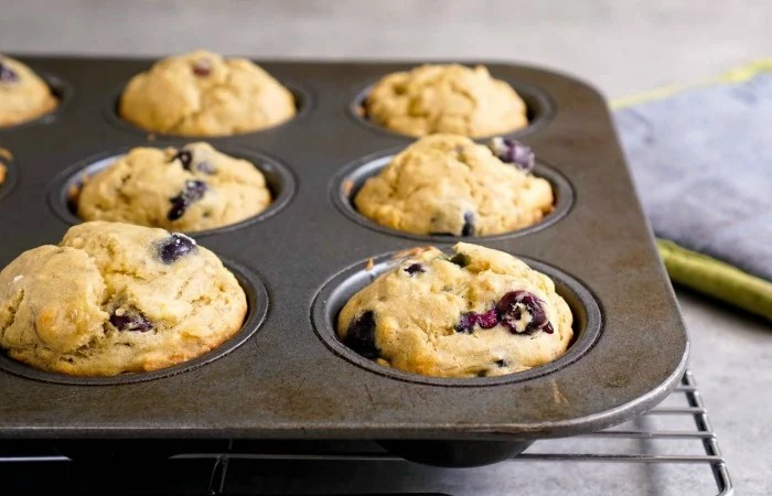 These gluten-free blueberry banana muffins are so soft and flavorful!