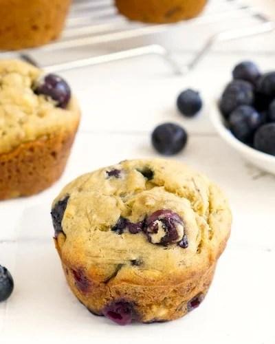 Gluten Free Blueberry Banana Muffins