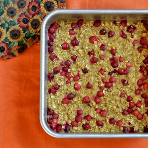 pumpkin cranberry oat bars pan rfrd
