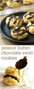 These peanut butter cookies with chocolate swirl are a healthier version of the classic peanut butter blossom cookies. This recipe is a great healthy treat. Recipe from realfoodrealdeals.com