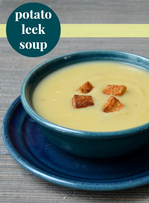 This potato leek soup tastes amazing! It's hard to believe it only has 4 ingredients. Recipe from Real Food Real Deals.