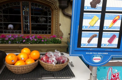 Fruit at ice cream stand