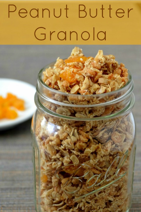 This peanut butter granola has such an amazing flavor! It's a delicious breakfast or snack. Recipe from Real Food Real Deals.