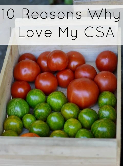 These are the top ten reasons why I love buying produce through my CSA farm share. I don't know how I ever lived without it.