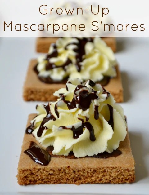 These grown-up mascarpone s'mores are a healthier, real food version of the classic summer dessert. You won't believe these are actually healthy.