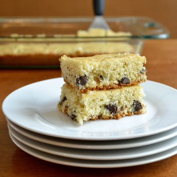 This healthier recipe for chocolate chip blondies is a delicious, kid-friendly dessert or snack. Try this recipe for a quick version of cookies.