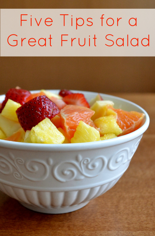 These five tips for a great fruit salad will give you a perfect side dish every time. This simple healthy recipe is the perfect way to detox in the new year.