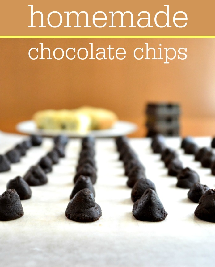 Want to control the ingredients in your dessert recipes? Make these homemade chocolate chips. They're so easy to put together!
