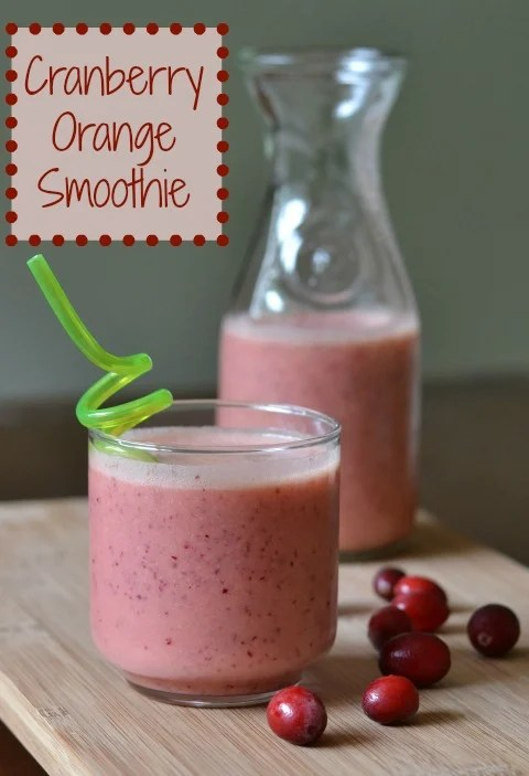 This cranberry orange smoothie is the best fall drink! Sweet, tart, and refreshing - great for snack time. Recipe from Real Food Real Deals