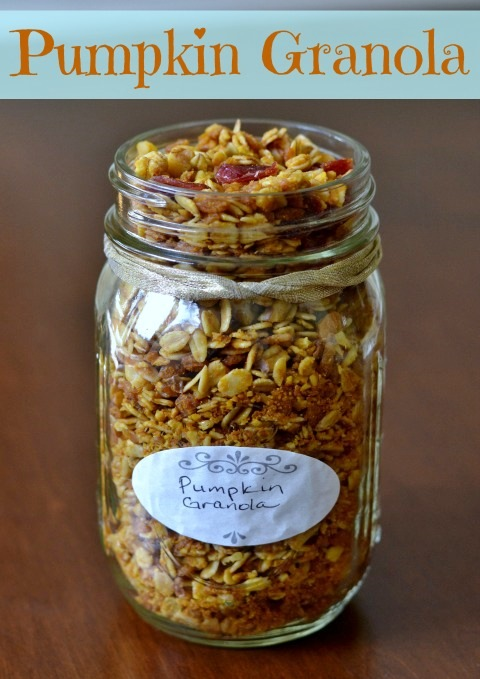 Pumpkin granola is a healthy breakfast or snack that highlights the flavors of fall. It's easy to make and it fills the house with a delicious aroma.