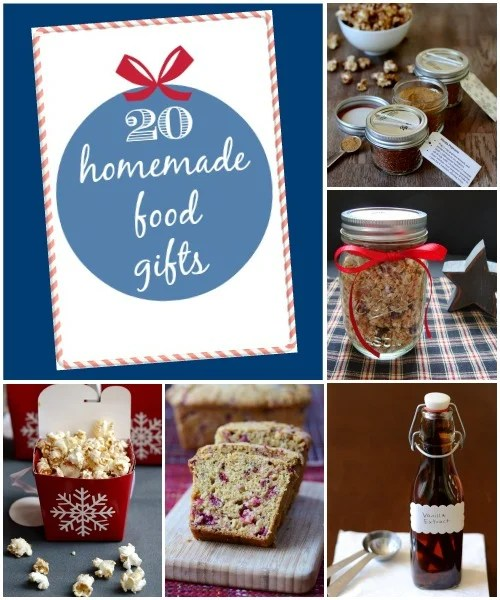 I love giving homemade food gifts for the holidays! These 20 yummy creations will put a smile on anyone's face at Christmas. | Real Food Real Deals