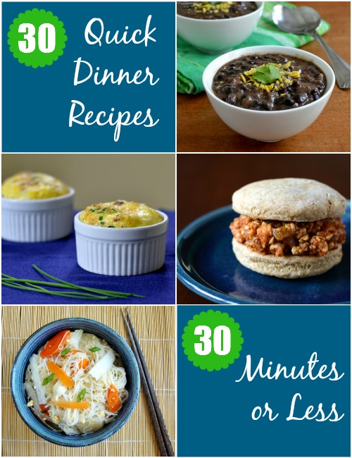 This is a fantastic meal planning resource! 30 quick dinner recipes that take 30 minutes or less to make. Sounds perfect to me!